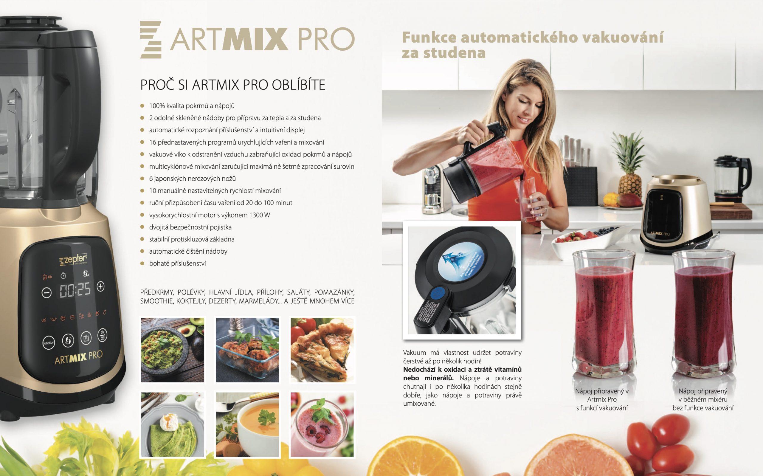 Varný mixér a smoothiemaker ARTMIX PRO od společnosti ZEPTER