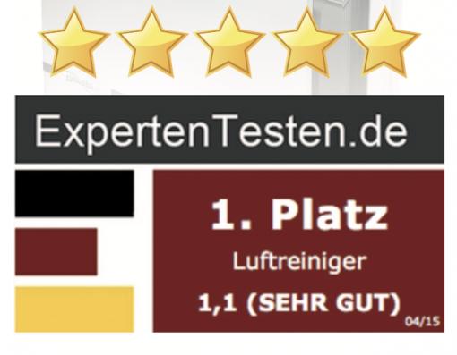 čistička vzduchu Zepter Therapy Air Ion vyhrála 1. místo v nezávislém testu expertetesten.de