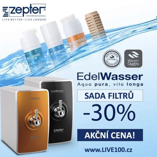 SADA ORIGINÁLNÍCH NÁHRADNÍCH FILTRŮ pro čističku vody ZEPTER EDELWASSER