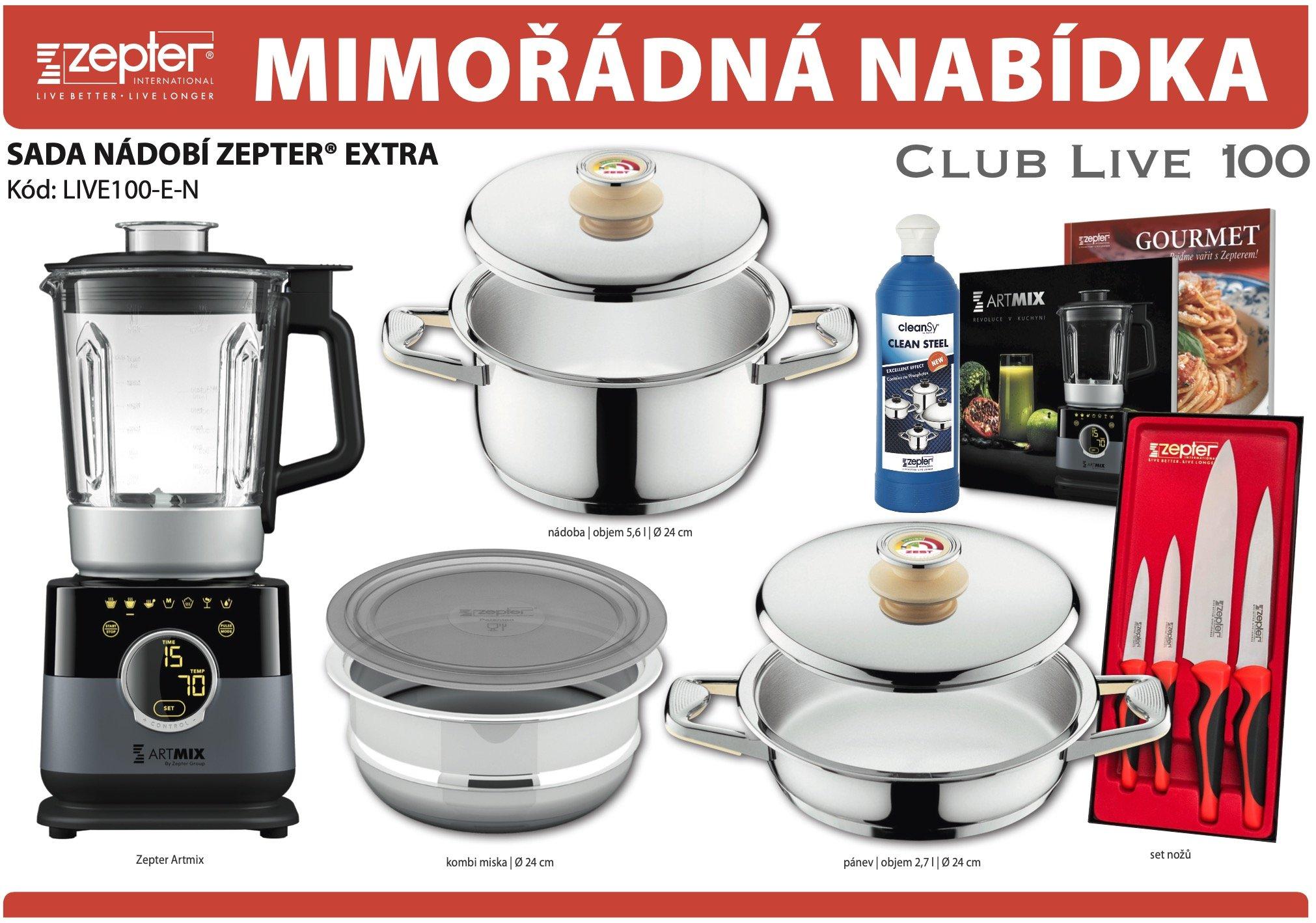 Akční nabídka souprava nádobí ZEPTER® EXTRA