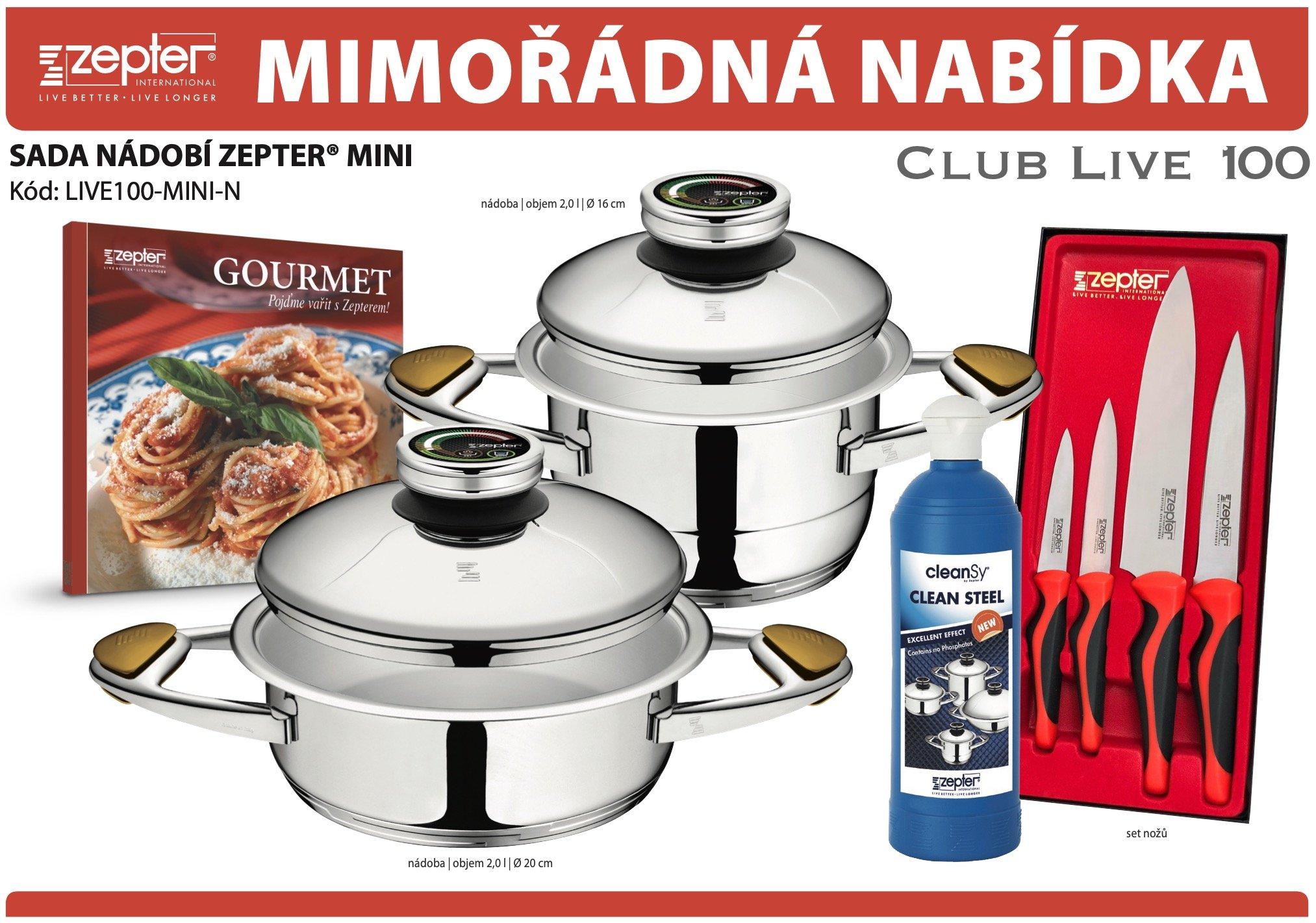 Akční nabídka souprava nádobí ZEPTER® MINI