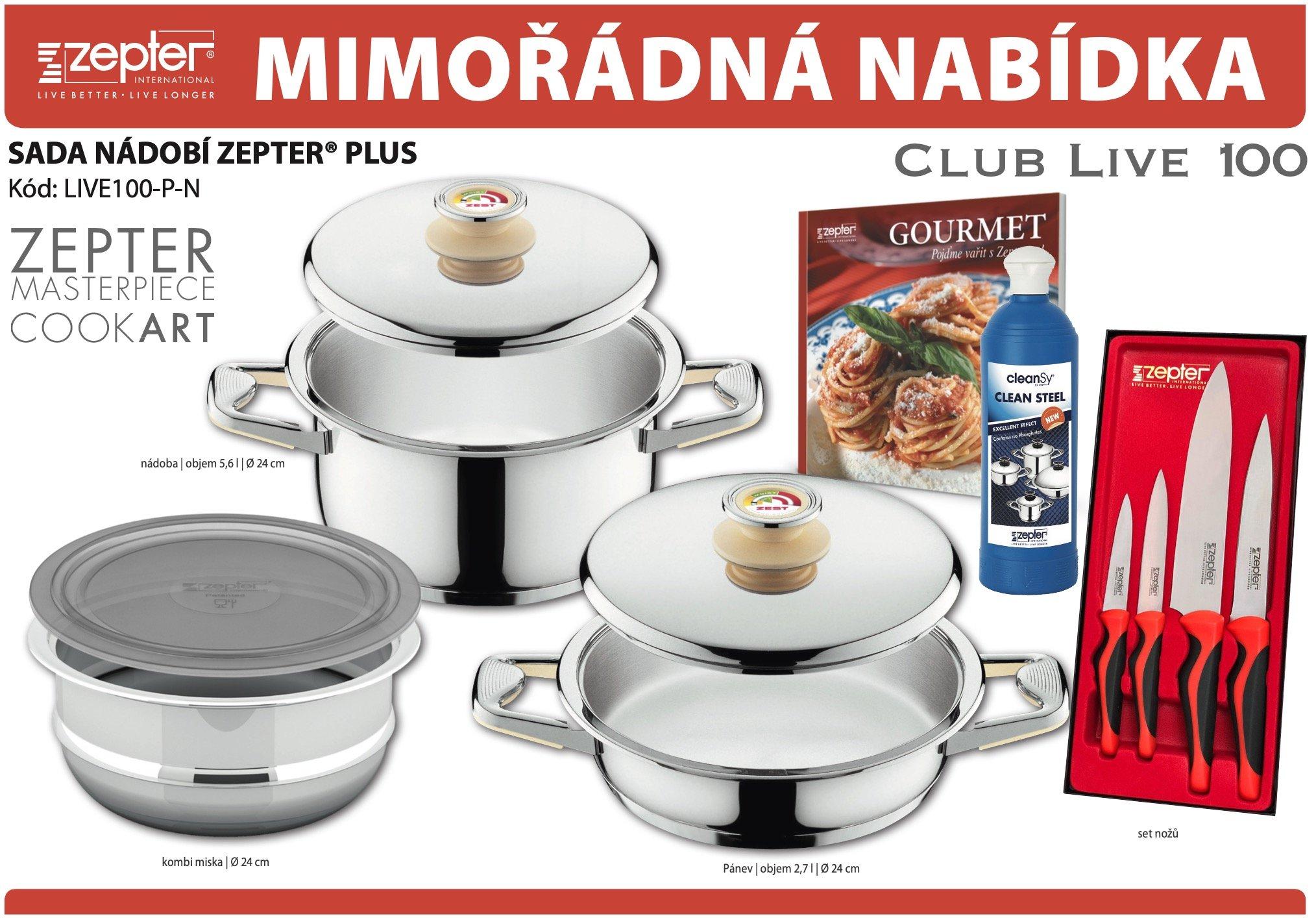 Akční nabídka souprava nádobí ZEPTER® PLUS