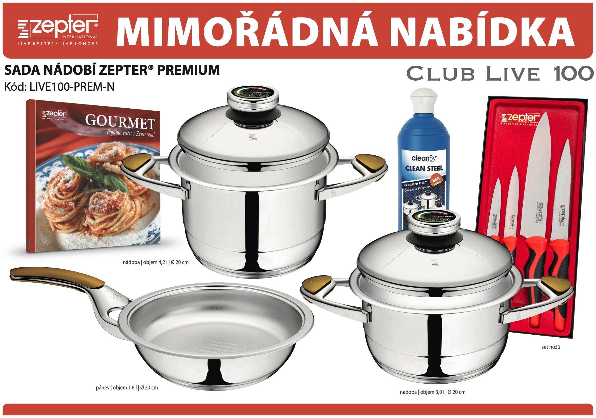 Akční nabídka souprava nádobí ZEPTER® PREMIUM