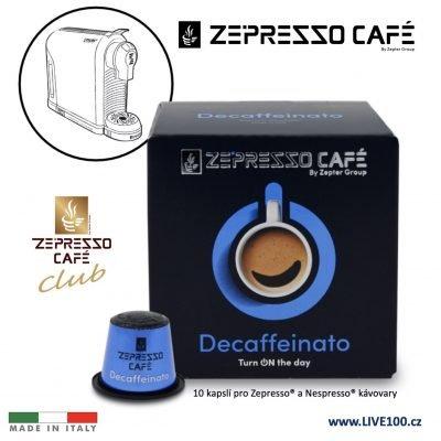 KÁVOVÉ KAPSLE ZEPTER ZEPRESSO CAFE - DECAFFEINATO