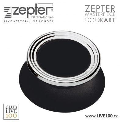 Zepter úchytka na poklici - zaslepený termokontrol černý