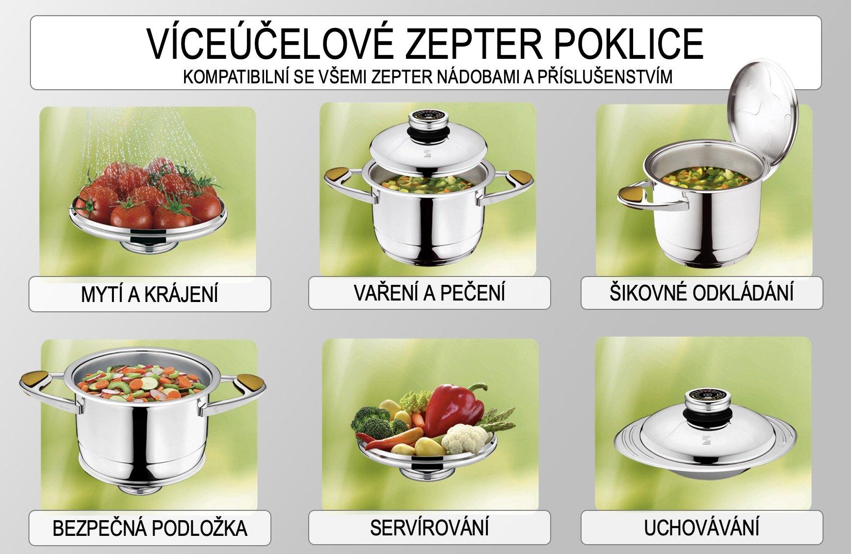 Jak správně používat poklice u Zepter nádobí